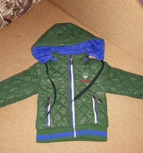 Куртка демисезонная, на 86 см
