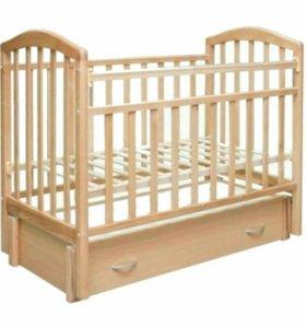 Кроватка детская+бортики+комплект пост белья