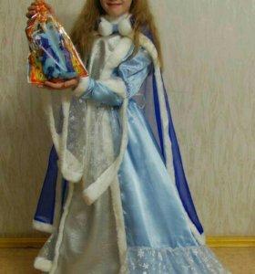 Карнавальный костюм Снегурочки, на рост 140