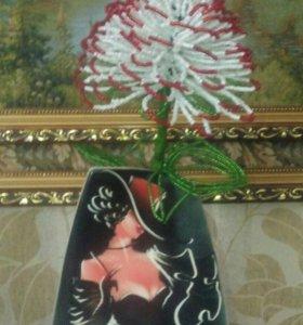 Цветок из бисера большой
