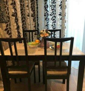 Стол обеденный и 4 стула