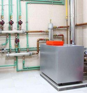 Установка отопления канализации водоснабжения