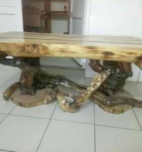 Стол из дерева. Шикарный стол ручной работы.