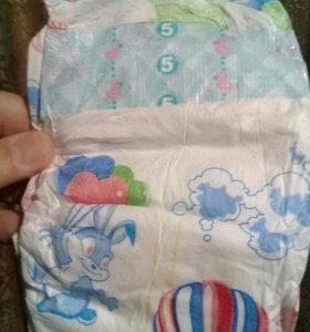 Детские подгузники 5ки