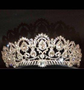 Свадебная корона и серьги