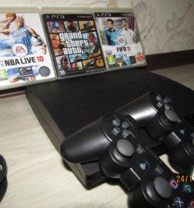 SonyPS3 slim 320гб GTA 5