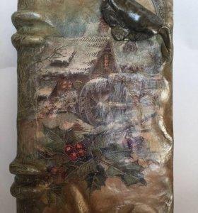 Шкатулка книга , старинный фолиант