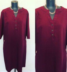 Шикарное платье рубашка размер 54-64