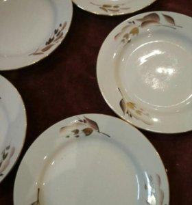 Десертные тарелки 6шт , 1сорт, ручная роспись