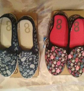 Новые туфли-макасины