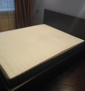 Кровать Мальм 160х200+матрас Ханснес (ikea)