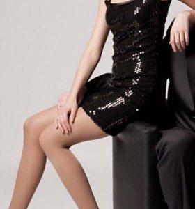 Платье чёрное с пайетками  и кружевом