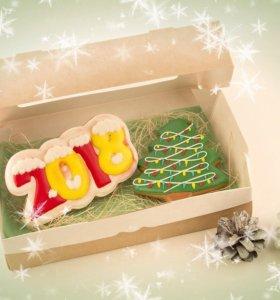 Набор 2, новогодний подарок, имбирный пряники
