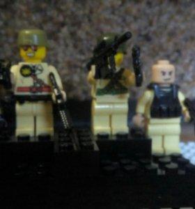 Лего,можно всё в месте, по одельности.