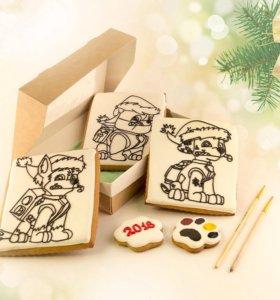 Набор 5, новогодний подарок, имбирные пряники