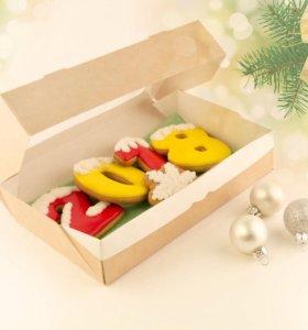 Набор 6, новогодний подарок,имбирные пряники
