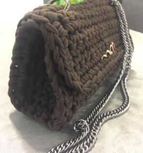 Вязаная сумка-клатч