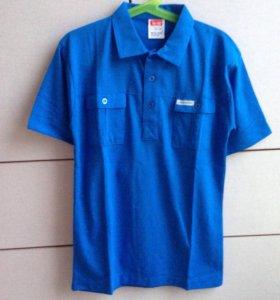 Рубашка - поло синяя новая