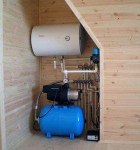 Монтаж водоснабжения канализации отопления