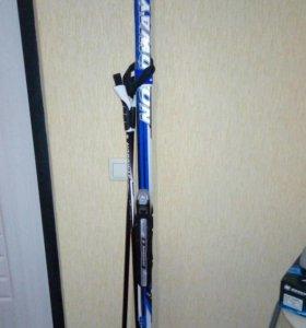 Лыжи+ палки+ботинки