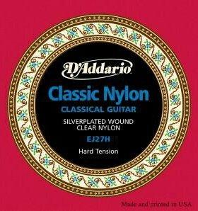 Струны новые для классической гитары D'Addario