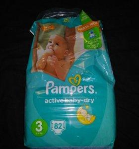 Памперсы pampers aktive baby dry