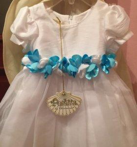 Праздничное детское платье, новое с биркой