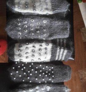 Пуховые варяжки,носки,платки,паутинки