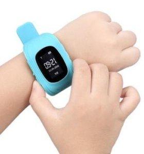 Детские часы с gps Q50 от Wonlex (голубые)