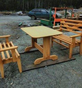 Столы со скамейками