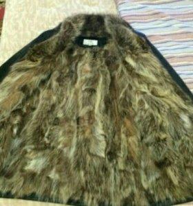 Зимняя новая КОЖАНАЯ мужская куртка-дубленка. 50 р