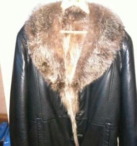 кожаная натуральная куртка .