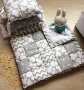 Одеяло детское лоскутное