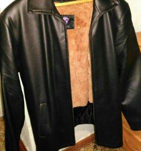 Кожаная куртка 5ХL