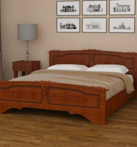Кровать деревянная с ящиками