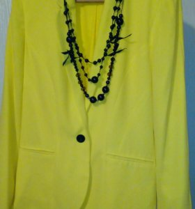 Пиджак Colours лимонный 46 р.