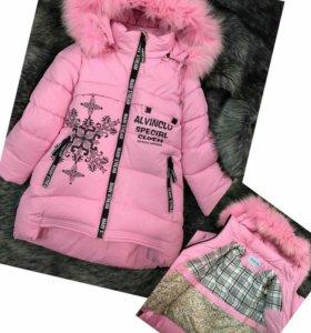 Очень теплая куртка на зиму для девочки