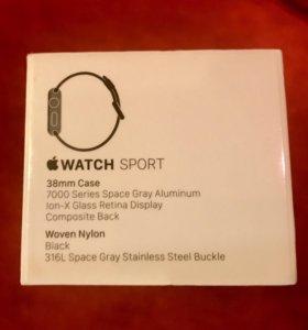Apple Watch Sport series 1 38mm Space Gray  новые