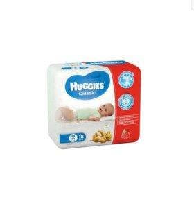 Подгузники Huggies classic 2 18 шт