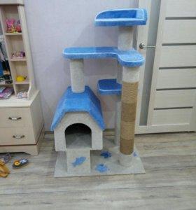 комплекс для кошки с домиком и когтеточкой
