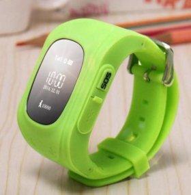 Детские часы с gps Q50 от Wonlex  (зеленые)