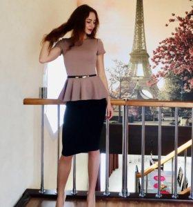 Костюм юбка+блузка+ремешок