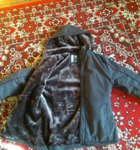 Куртка зимняя, с мехом внутри