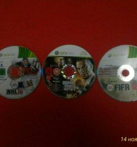 Диски на Microsoft Xbox 360 без коробок.