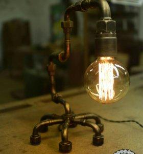 Лампа настольная Лофт, Стимпанк, Loft, Steampunk