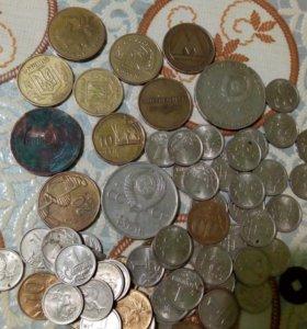 Старые монеты, разные
