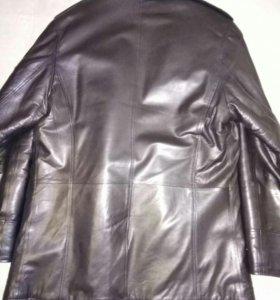 Куртка мужская кожаная зимняя
