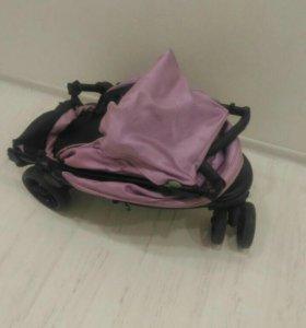 Розовая коляска viki