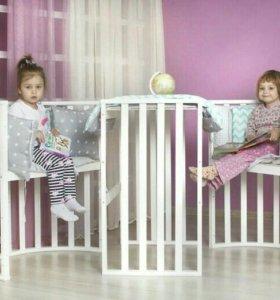 Кроватка трансформер детская