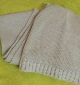 Шапка и шарф-комплект